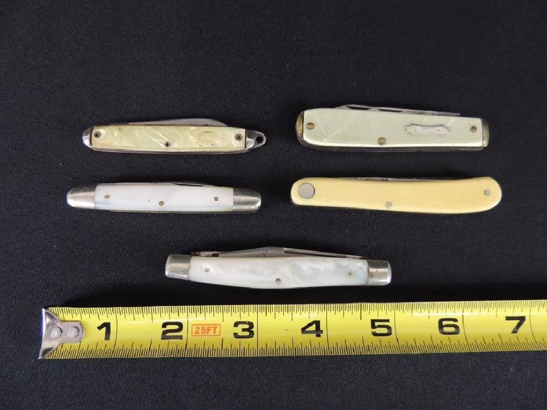 Group of 5 Vintage Folding Pocket Knifes - 2
