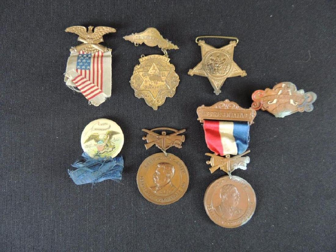 Group of 7 Gar Medals and Pieces of Medals