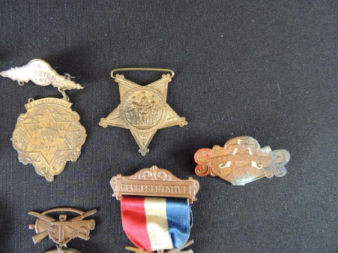Group of 7 Gar Medals and Pieces of Medals - 3