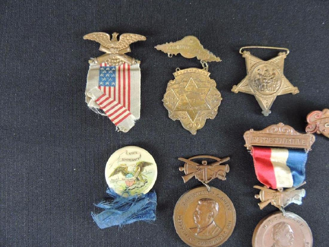Group of 7 Gar Medals and Pieces of Medals - 4
