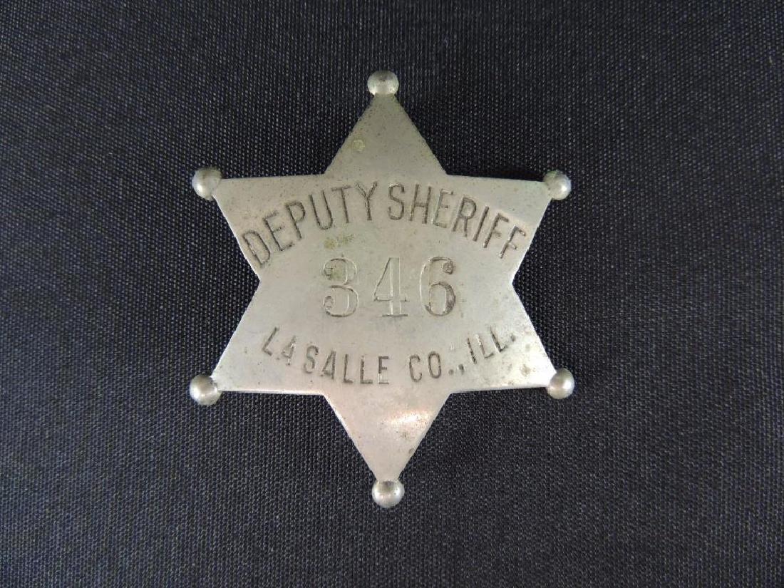 Vintage LaSalle County Ill. Deputy Sheriff Badge