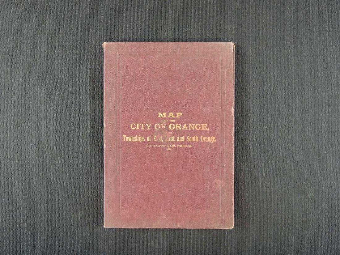 1887 Baldwin's Orange Directory Pocket Map of the City