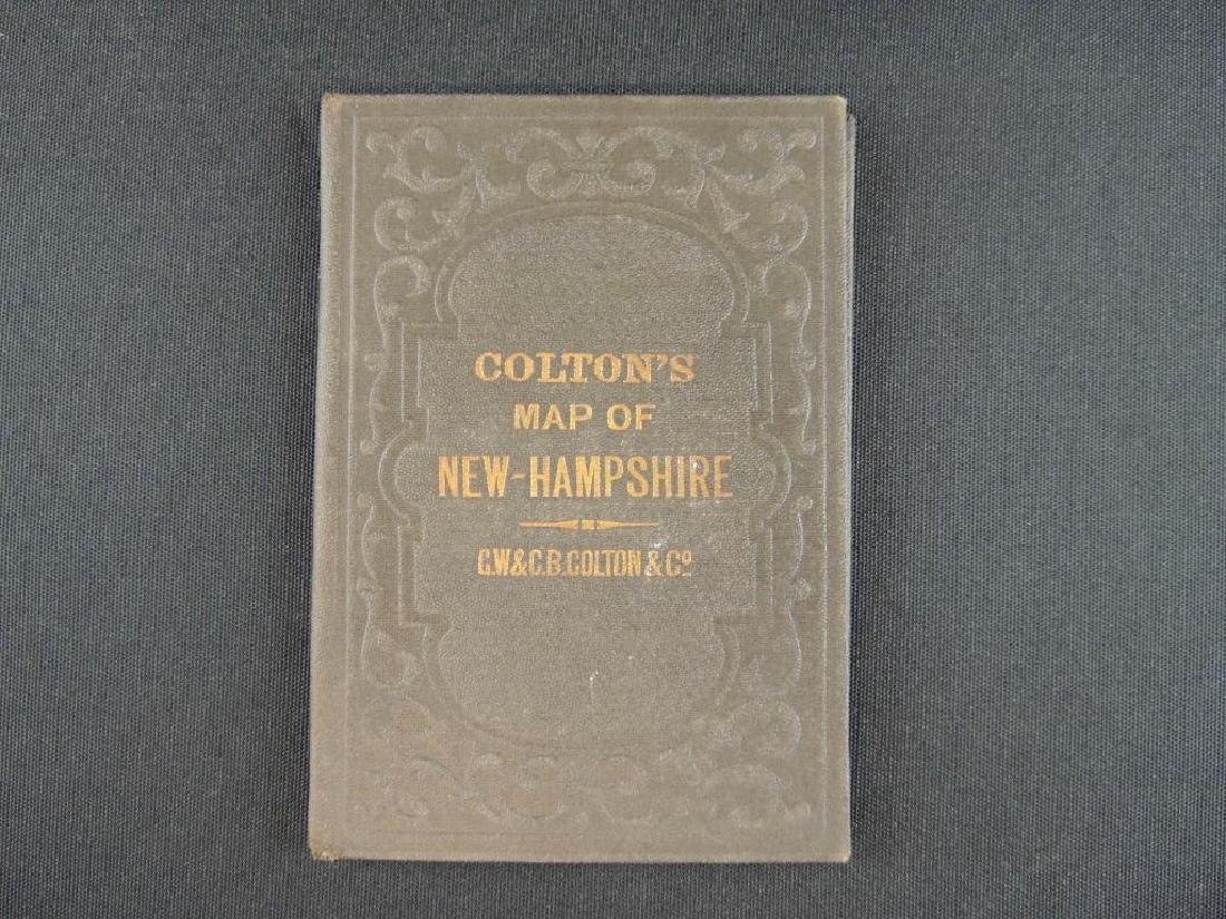 1878 G.W. & C.B. Colton's Pocket Map of New Hampshire