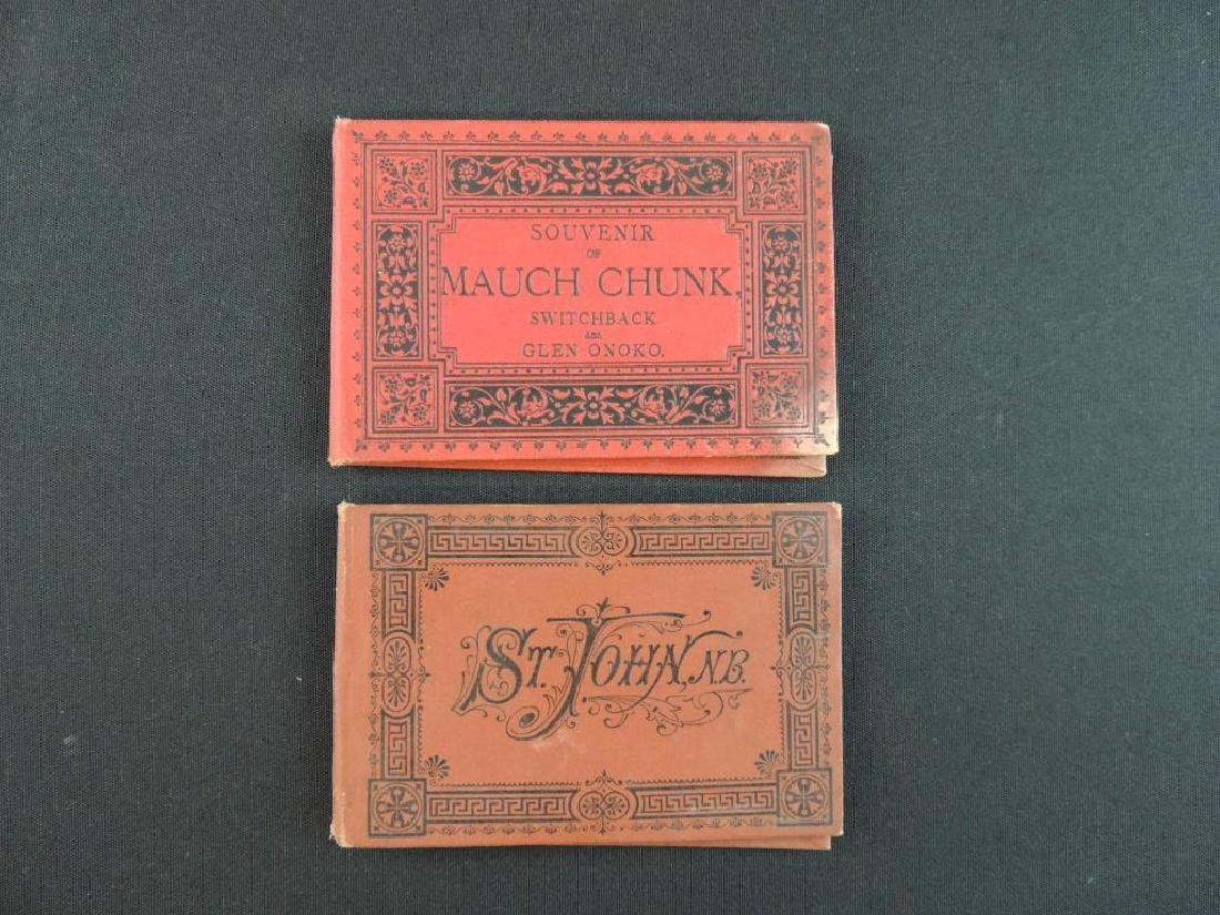 Group of 2 Souvenir Folding Booklets of Mauch Chunk and
