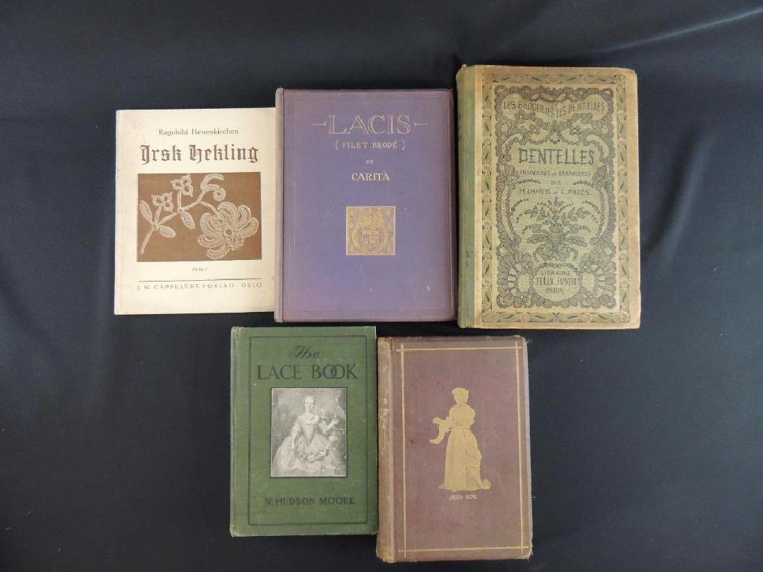 Group of 5 Antique Lace Books Featuring the History of