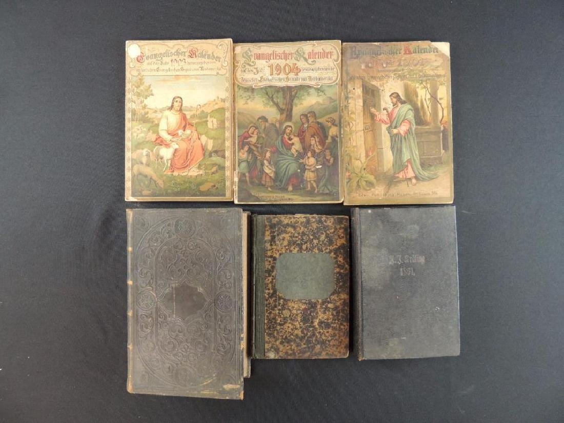 Group of 1865-1904 German Religious Books and Bibles