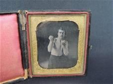 Boxer Charles Whitman Daguerreotype Photograph