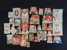 Group of Vintage Valentine Day Cards