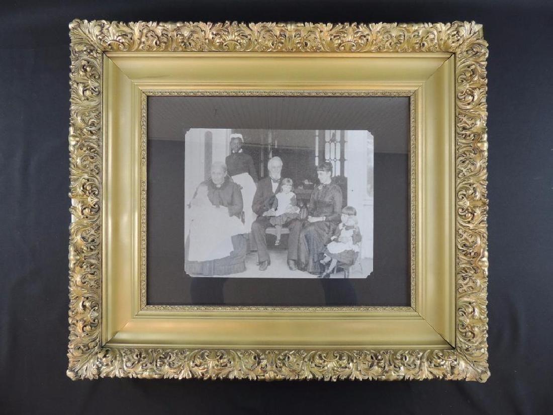 Photo of Confederate President Jefferson Davis with His