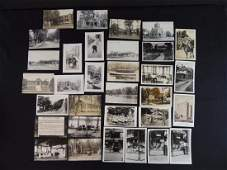 Group of 32 Real Photo Postcards Featuring Downers