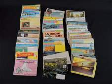 Group of Vintage Postcard Folders Featuring Disneyland