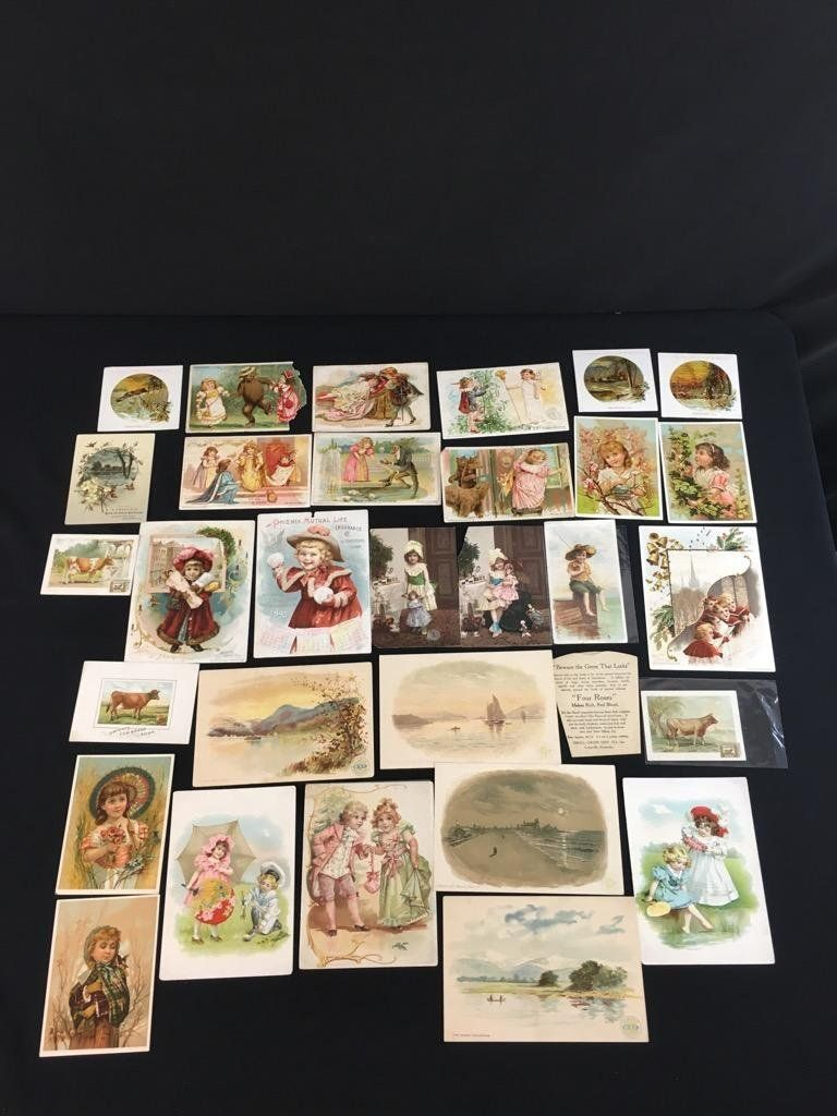 Large group of trade cards, Ciggertte Cards , and more