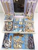Large mixed lot of vintage costume jewelry
