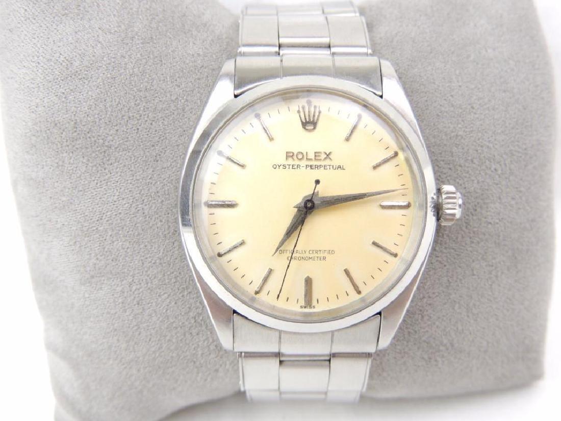 Vintage men's Rolex oyster perpetual wrist watch
