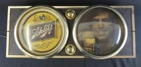 Light Up Advertising Beer Sign-Schlitz Beer