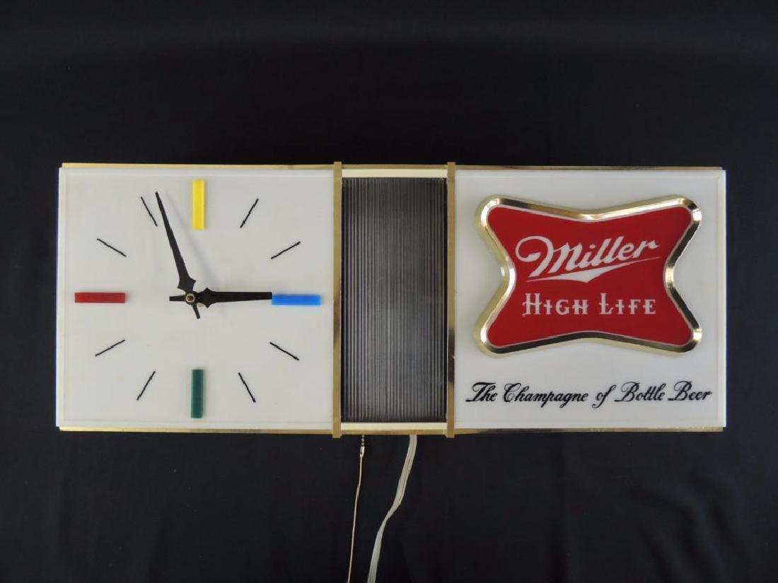Light Up Advertising Beer Sign-Miller High Life