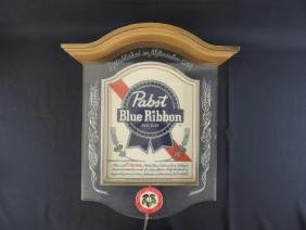 Light Up Advertising Beer Sign-Pabst Blue Ribbon