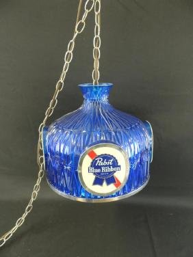 Advertising Hanging Beer Light-Pabst Blue Ribbon