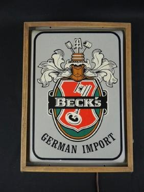 Light Up Advertising Beer Sign-Becks