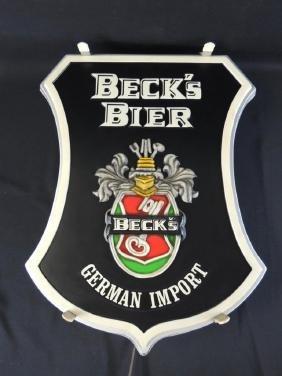 Light Up Advertising Beer Sign-Beck's Bier