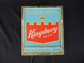 Light Up Advertising Beer Sign-Kingsbury Beer