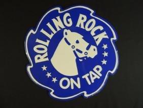 Rolling Rock Metal Beer Sign
