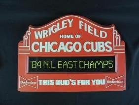 Budweiser Chicago Cubs Wrigley Field Plastic Sign