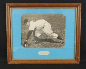 Billy Martin Signature with Framed Photo