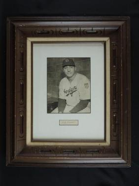 Billy Herman Signature with Press Photo