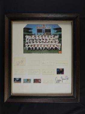 1987 White Sox Team Photo with 12 Signatures