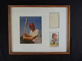 Johnny Bench Signed Press Photo and Card