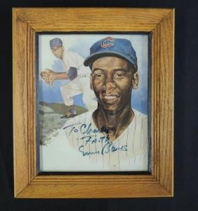 Ernie Banks Signed Print