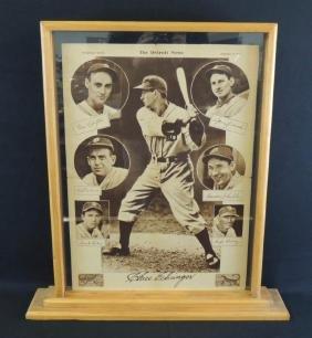 1935 Detroit Tigers Autograph Section Newspaper