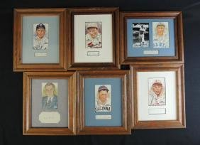 Group of 6 Baseball Player Signatures with Prints