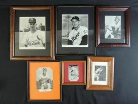 Group of 6 Signed Baseball Player Photos