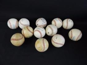 Group of 12 Signed Baseballs