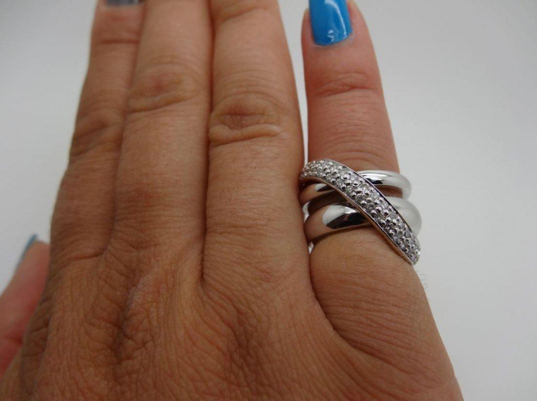 14K WHITE GOLD 0.70CTTW DIAMOND RING SIZE 5
