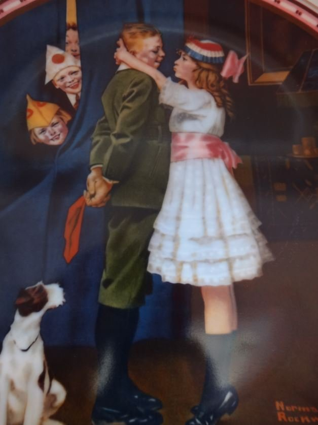 """NORMAN ROCKWELL'S """"KISS AND TELL"""""""