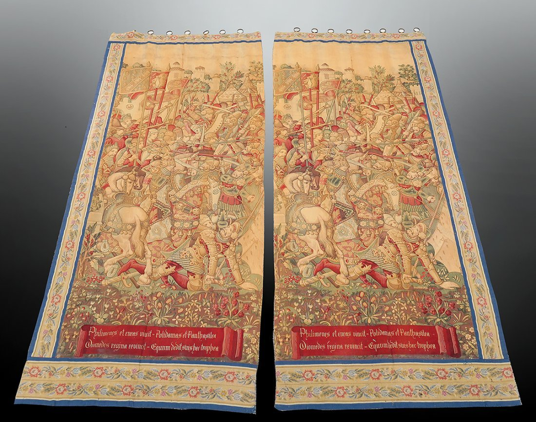 Large Pair of 17th C. Flemish Tapestry - 2