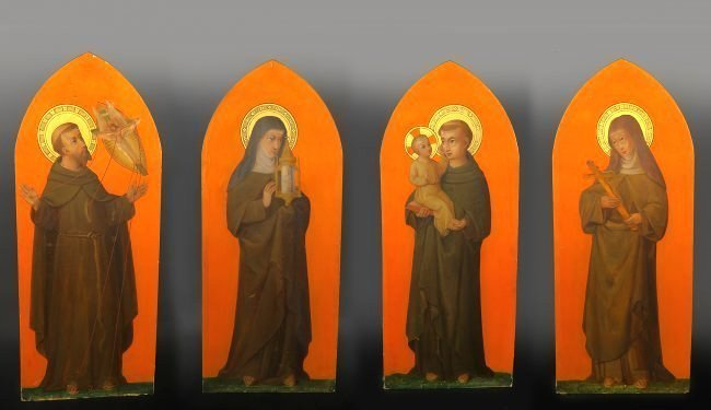 19th C. Religious Group of Paintings on Board