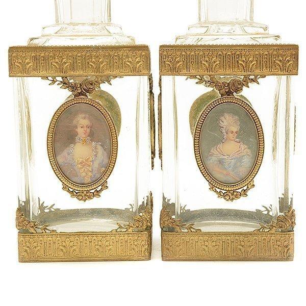 French Gilt Bonze Enameled Portrait Dresser Set - 3