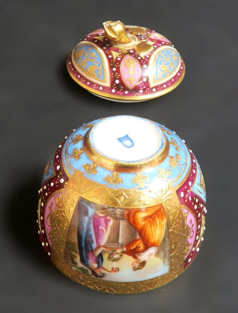 19th C. Hand Painted Royal Vienna Tea Set. Museum quali - 6