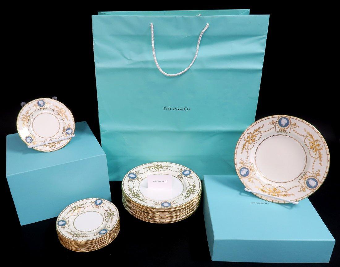 16 Antique Minton for Tiffany Pate-Sur-Pate Plates
