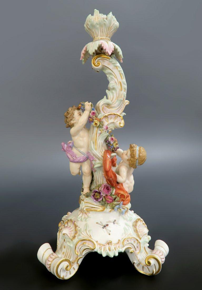 19th C. Meissen Figural Porcelain Candle Stick