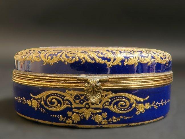 Large 19th C. Sevres Porcelain Jewelry Box/Casket - 3