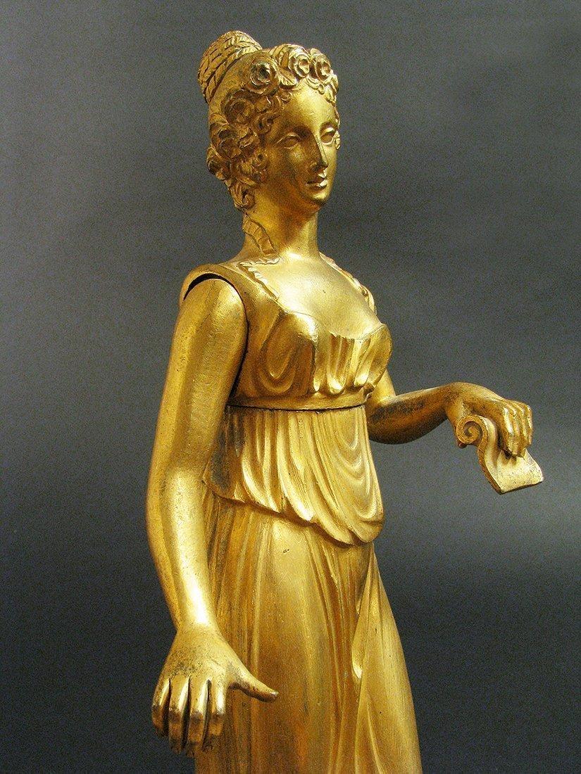 19th C. Fine Bronze Figural Statue - 3