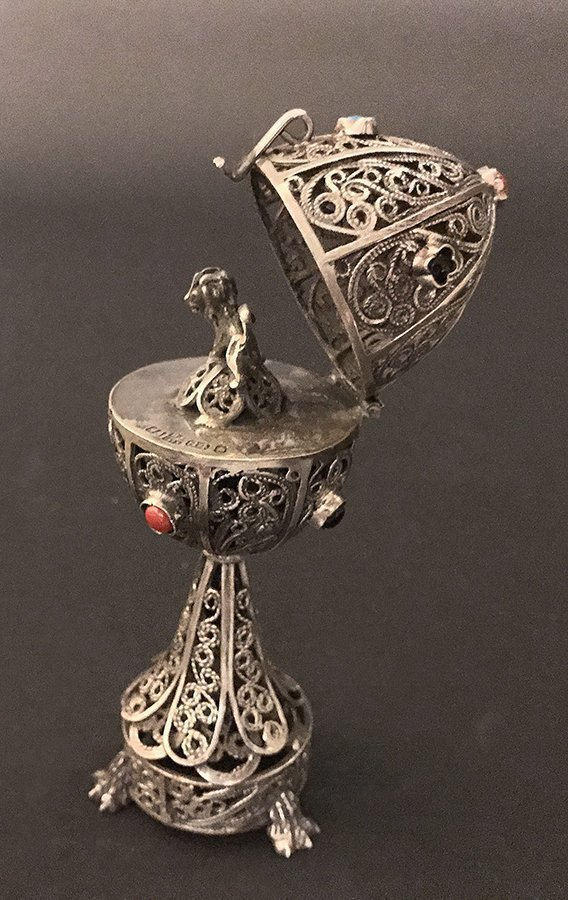 BC 1873 Solid Sterling 84 Russian Filigree Egg