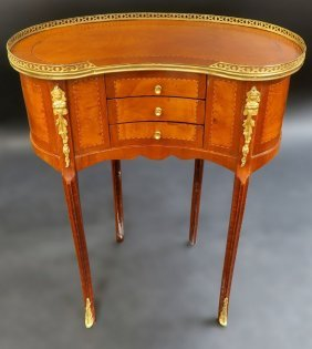 French Bronze Mounted Kidney Shape Side table