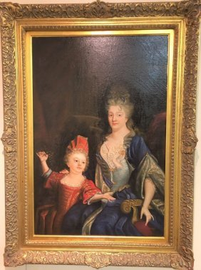 19th, century Royal mother & Daughter signed by artist