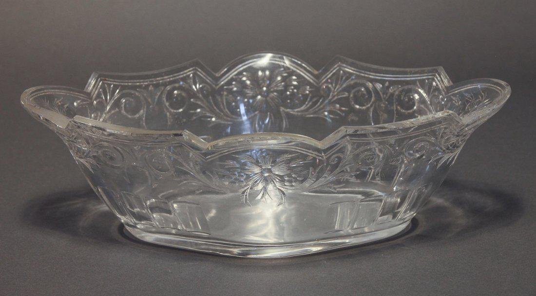 French Silver-Plated & Baccarat Crystal Centerpiece - 4